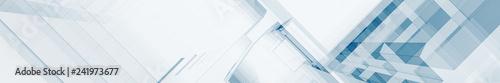 Fotografia  Blue glass contemporary 3d rendering