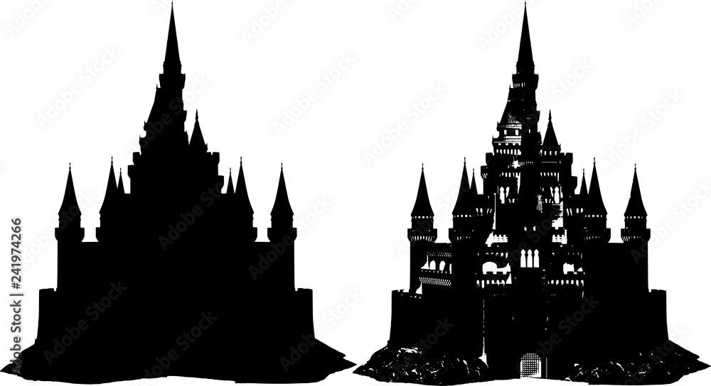 Fototapety, obrazy: お城のシルエット