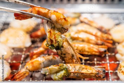 grilled tiger prawn yakiniku