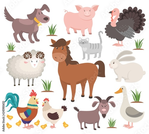 Fotografia Cartoon farm animals