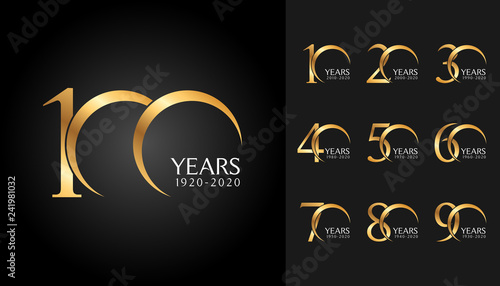 Tela Set of anniversary badges
