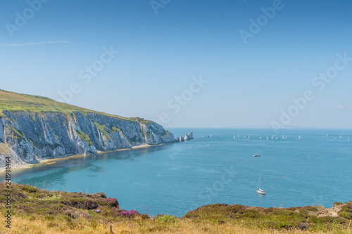 Fotografie, Obraz Next view over the Needles of the isle of wight in UK.