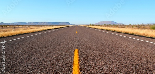 Fotografie, Obraz  Endless open straight road in Big Bend National Park in Texas