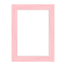 Pink Wood Picture Frame On Whi...
