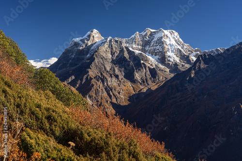 Fotografie, Obraz  Mera peak, highest trekking peak in Everest region, Himalayas mountain, Nepal