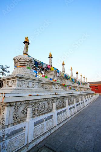 Foto op Plexiglas Historisch geb. Hohhot Buddha Eight Tower landscape architecture, Hohhot, Inner Mongolia autonomous region, China