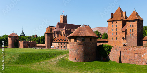 Deurstickers Historisch geb. Malbork Castle is historical heritage