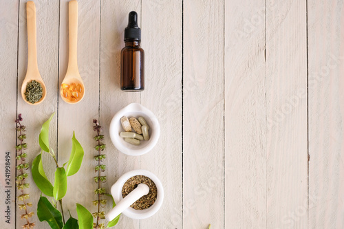 Photo  herbal organic medicine product