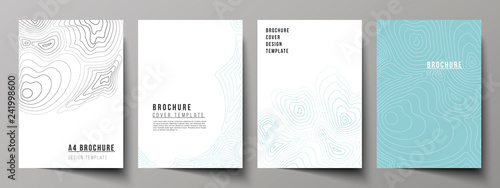 Fotografie, Obraz  The vector layout of A4 format modern cover mockups design templates for brochure, magazine, flyer, booklet, annual report
