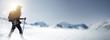 canvas print picture - Wandern im Schnee