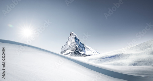 Matterhorn im Winter Canvas Print
