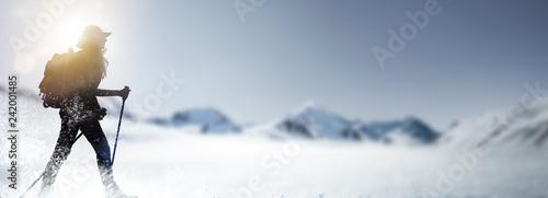 Poster Glisse hiver Wandern im Schnee