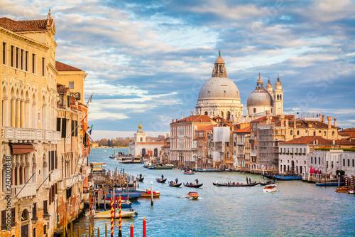 In de dag Centraal Europa Canal Grande with Basilica di Santa Maria della Salute at sunset, Venice, Italy