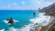 Felsenküste auf  Teneriffa,  Playa de Almáciga, Benijo - Anagagebirge
