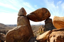 Balanced Rock On Grapevine Hills Trail In Big Bend Nationalpark