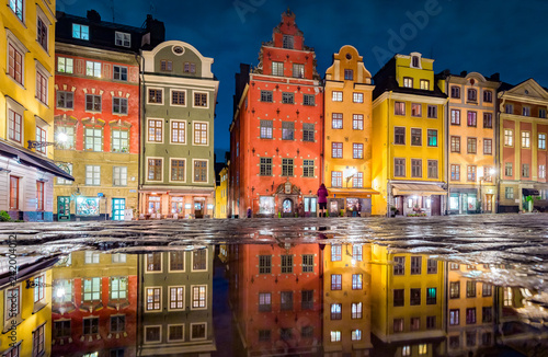 Gamla Stan at night, Stockholm, Sweden Canvas-taulu
