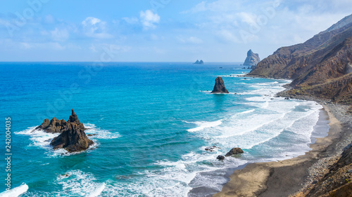 Felsenküste auf  Teneriffa,  Playa de Almáciga, Benijo - Anagagebirge Obraz na płótnie