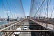 Detail of brooklyn bridge in new york