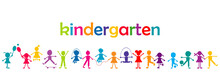Kindergarten Banner With Color...