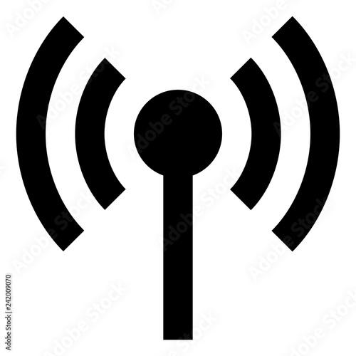 Fotografie, Tablou  Antenna Wireless Signal Icon