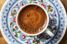 Black Coffee In Traditional Turkish Cup