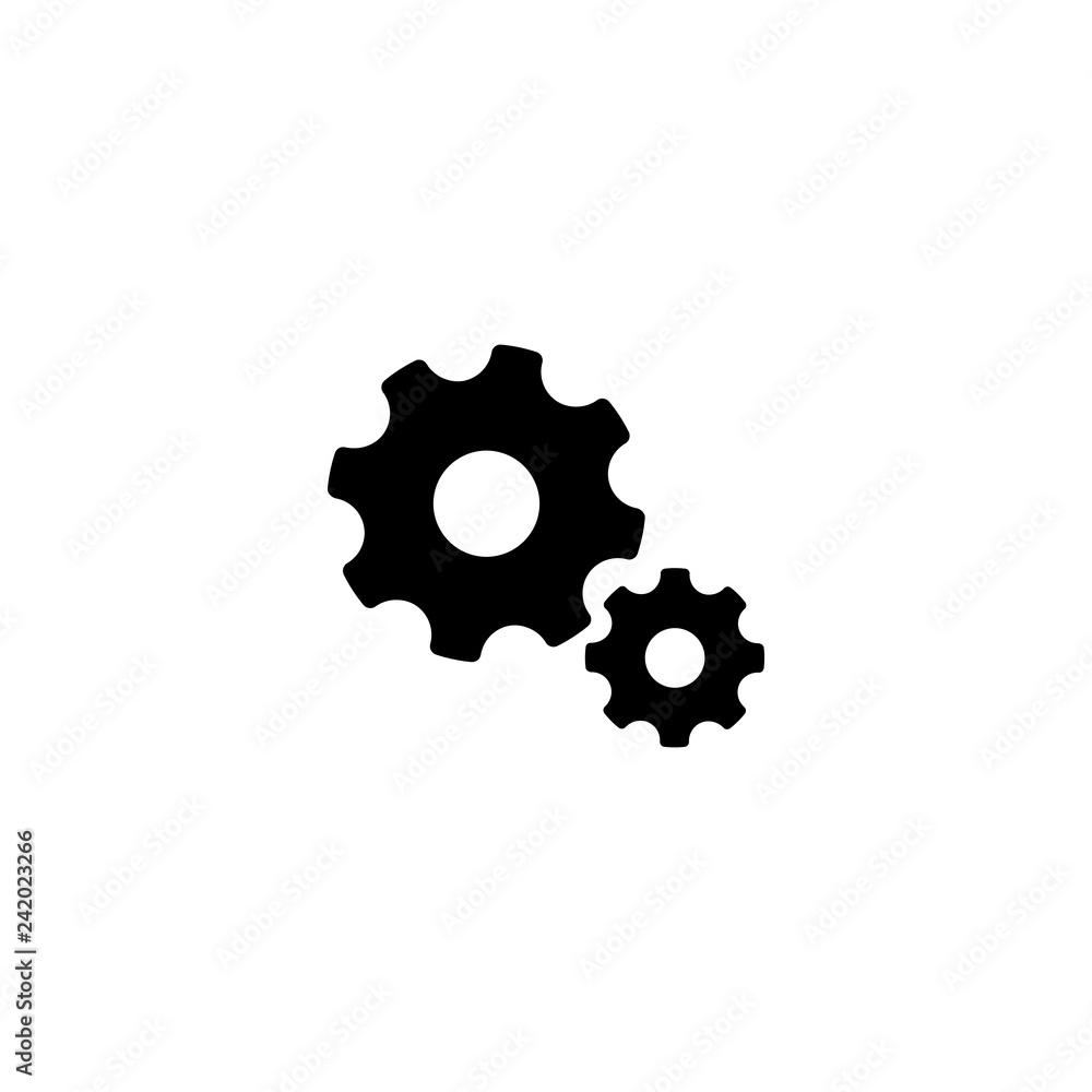 Photo & Art Print cogwheel icon vector   EuroPosters