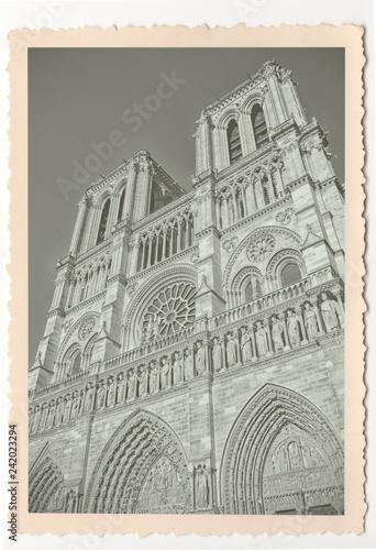 Notre Dame De Paris Cathedral Vintage Photograph Buy