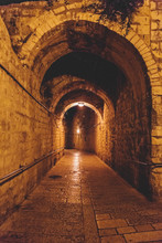 Ancient Streets And Buildings In The Old City Of Jerusalem