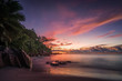 Picturesque red sky after sunset on paradise Beach on the seychelles 3