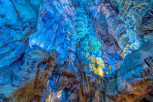 Colorful St. Michaels Cave Gibraltar