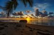 beautiful sunrise on paradise beach, seychelles 2