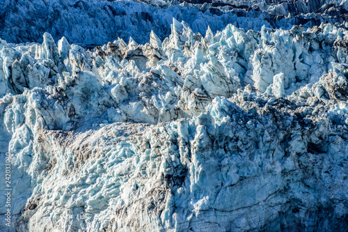 Fényképezés  Crevasses, seracs and other detail features of a Glacier in Alaska