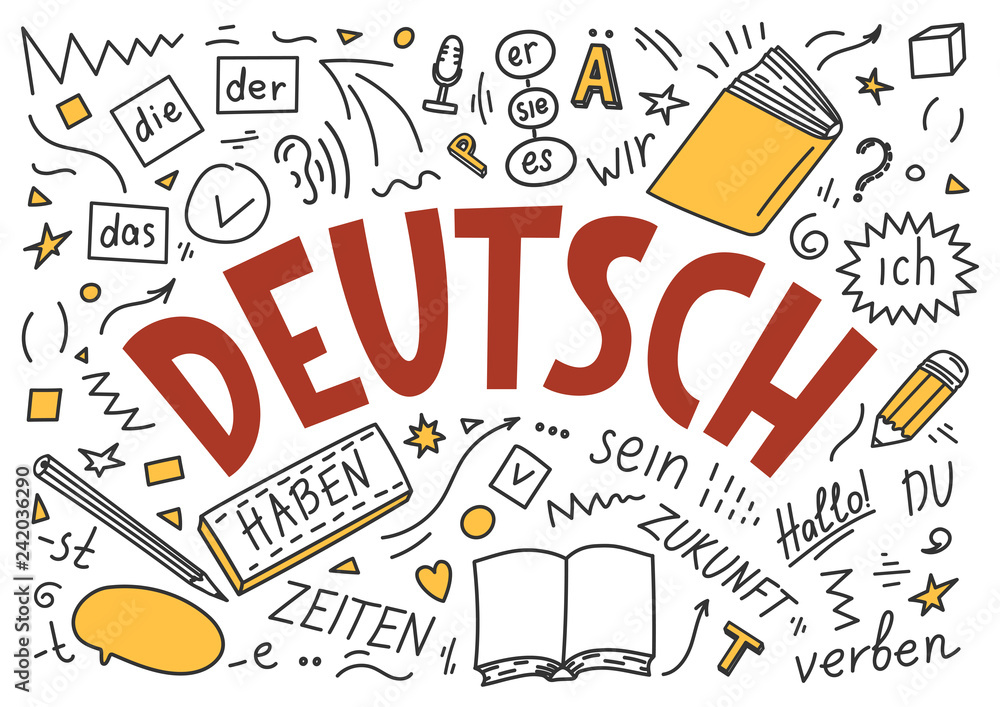 Fototapeta Deutsch. Translation: