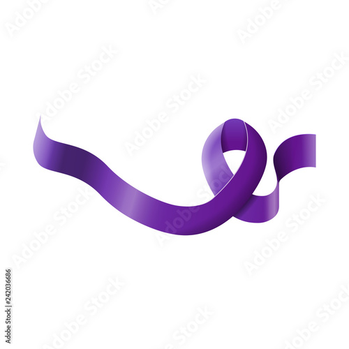 Purple ribbon leprosy day isolated Canvas Print