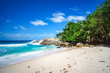 beautiful paradise tropical beach,palms,rocks,white sand,turquoise water, seychelles 16
