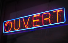 French Open Neon Light Sign Gl...