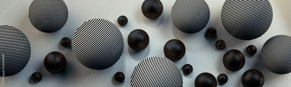Fototapeta Szare kule 3D na jasnym tle