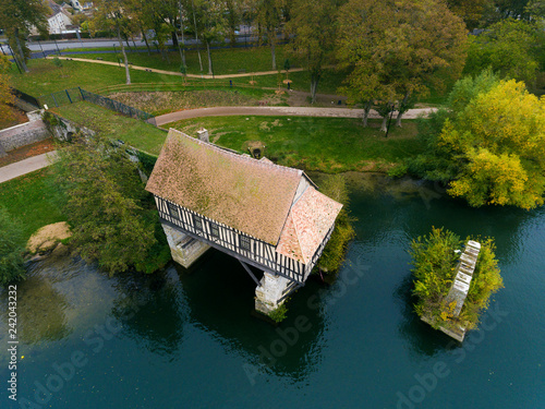 Fototapeta Ancient mill in Vernon, Eure, Normandy, France