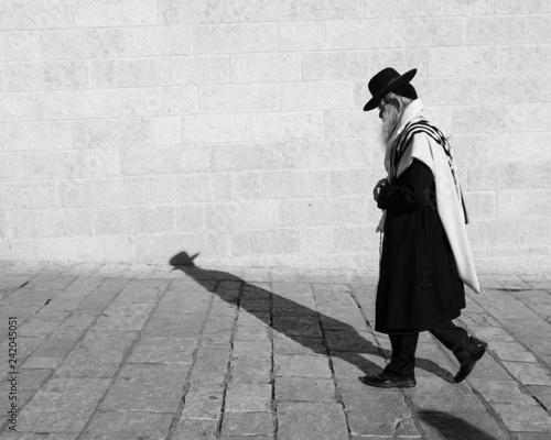 Fototapeta Rabbi an Klagemauer Israel obraz
