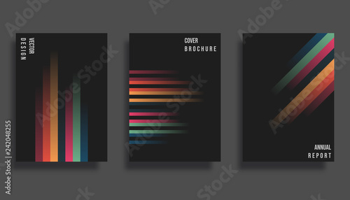 Photo  Abstract cover design. Gradient vector lines background