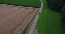 Aerial Of An American SUV Car ...