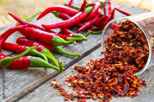 Printed kitchen splashbacks Spices Red chili peppers and red pepper