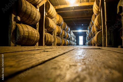 Photographie Barrels of Aging Bourbon