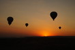 Balloons and sunset in Cappadoccia