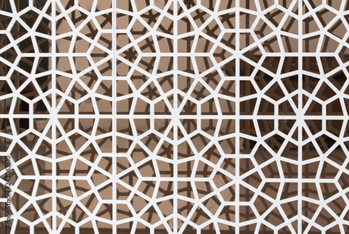 Valokuva  texture of wood perforated background