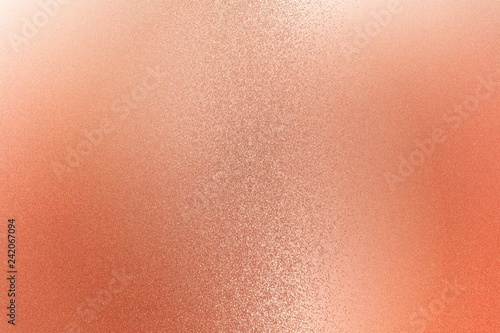 Fotografía  Texture of reflection on rough red metallic wall, abstract background
