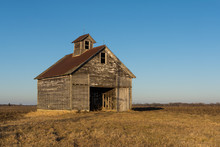 Old Weathered Wooden Barn In O...