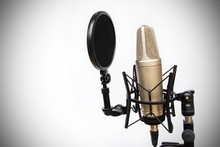 Recording Mic Isolated On A Wh...
