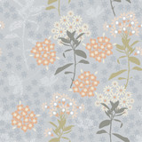 Vintage Geometric flower mix with garden leaf  florals colorful mood for fashion fabric,wallpaper and all prints - 242073677