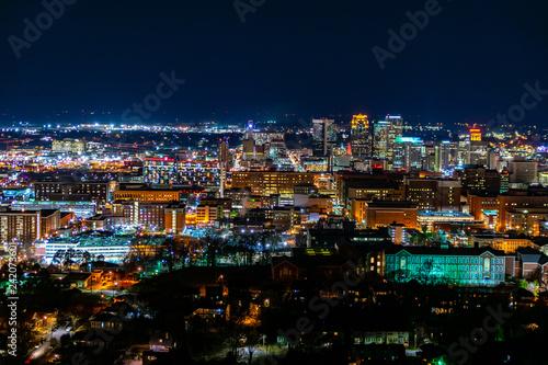 Birmingham at night 2 Canvas Print